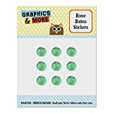 Danger Noodle Snake Funny Humor Set of 9 Puffy Bubble Home Button Stickers Fit Apple iPod Touch, iPad Air Mini, iPhone 5/5c/5s 6/6s 7/7s Plus