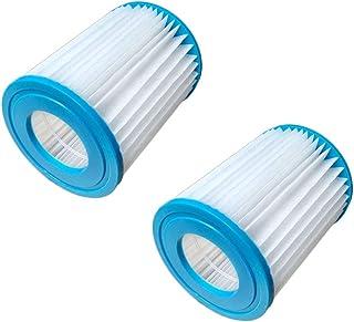 M&A Keleily 2 Piezas Filtro Cartucho Piscina Cartucho de Filtro de Repuesto Filtros Depuradora para Bestway Tamaño I, Azul-Blanco, 8 x 9 cm