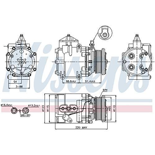 Nissens 89248 - Compressore, Climatizzatore