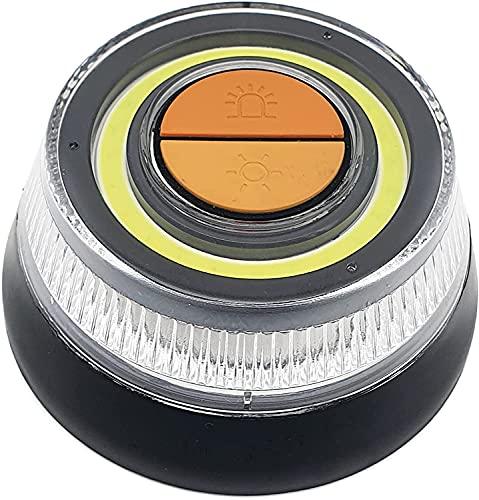 Astormedic   Baliza - Luz de Emergencia Coche + Linterna LED · HOMOLOGADA DGT · Señal V16 Largo Alcance con Gran Visibilidad. Base Magnética y Gancho para Colgar. Luz de Avería Resistente al Agua.