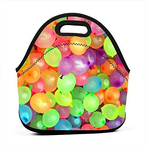 Gemengde kleuren ballon neopreen lunch zakje Tode geïsoleerde lunchbox levensmiddelenkoffer handtassen-koel-warme zak