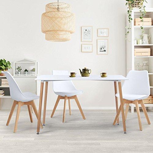 IDMarket - Table à Manger scandinave SARA 120 CM Blanche