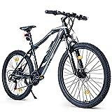 BLUEWHEEL e-bike 27.5' & 29' I Marca Alemana de Calidad | Bicicleta de montaña eléctrica | Conforme a UE | 21 Marchas y Motor Trasero 25 km/h | Horquilla de suspensión MTB, App y Sillín de gel | BXB75