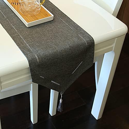 ARVOV Runner da tavola in effetto lino, lavabile, elegante, per sala da pranzo, feste, vacanze,...