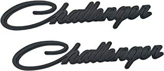 Yuauto Challenger Nameplate Emblems, 3D Badges Decal for Dodge Chrysler Mopar Challenger (Black)