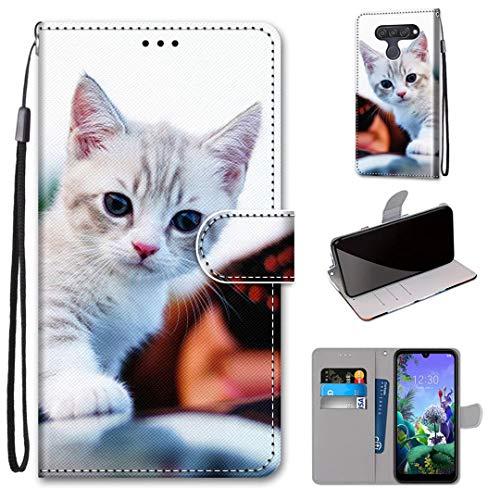 LG Q60 / K50 Hülle, SATURCASE Schön PU Lederhülle Magnetverschluss Brieftasche Kartenfächer Standfunktion Handschlaufe Handy Tasche Schutzhülle Handyhülle Hülle für LG Q60 / K50 (DK-27)