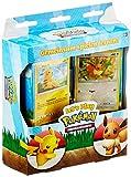 2 jeux de 60 cartes Pokémon. 4 cartes holographiques. 2 livrets de règles – un pour chaque planche. 2 pièces de monnaie, 2 boîtes. 2 tapis de jeu individuels, 2 feuilles de marque de dommages.