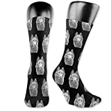 lucies Perro Pastor Belga Calcetines Unisex The-Calf Calcetines Crew Funny Sock
