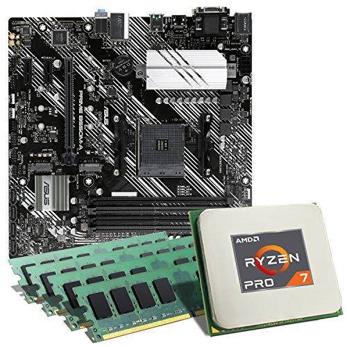 AMD Ryzen 7 PRO 4750G / ASUS Prime B550M-A Mainboard Bundle / 32GB | CSL PC Aufrüstkit | AMD Ryzen 7 PRO 4750G 8X 3800 MHz, 32GB DDR4-RAM, GigLAN, 7.1 Sound, USB 3.1 | Aufrüstset | PC Tuning Kit