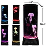 Jellyfish Lamp,Large Electric Jellyfish Aquarium,Jellyfish Tank Mood Light with 7 Alternating Colors,Perfect as Kid's Night Lamps or Decorative Lamps for Couples or Households.