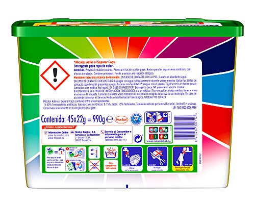 Micolor Detergente en Cápsulas Adiós al Separar – 45 Lavados