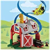 Fisher-Price GeoTrax Rail and Road System Blast-Through Barn with GeoAir Expansion Track by