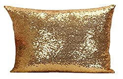 Gold Multi-Size Sequin Throw Pillow Cover Sham Case