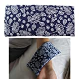 Heating Pads Microwave, Heat Pack Wrap Hot Cold Compress, Natural Therapeutic Pain Relief Relaxation Heat Therapy for Neck, Shoulder 【Flaxseed and Gardenia】 (9×4inch, Navy)