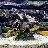 PPuujia Decoración de pecera grande jarrón con agujeros de cueva, decoración de acuario para peces, adorno artificial para peces, hermosa decoración de fondo (color, tamaño: 15 x 11 x 15 cm)
