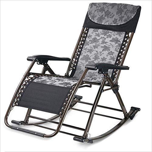 Silla Mecedora WJJJsilla Plegable con reposabrazos para una Silla de jardín reclinable...