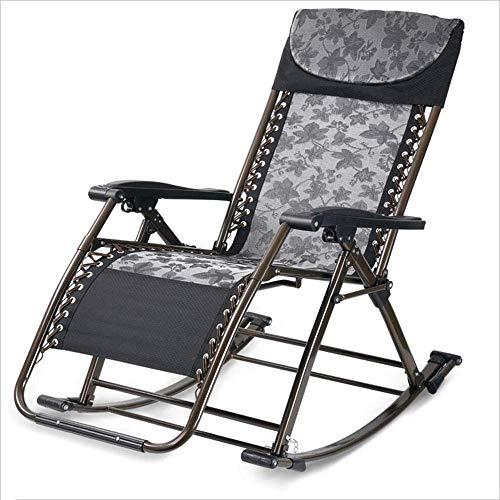 Silla Mecedora WJJJsilla Plegable con reposabrazos para una Silla de jardín reclinable portátil de...