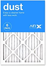 AIRx DUST 14x20x1 MERV 8 Pleated Air Filter - Made in the USA - Box of 6