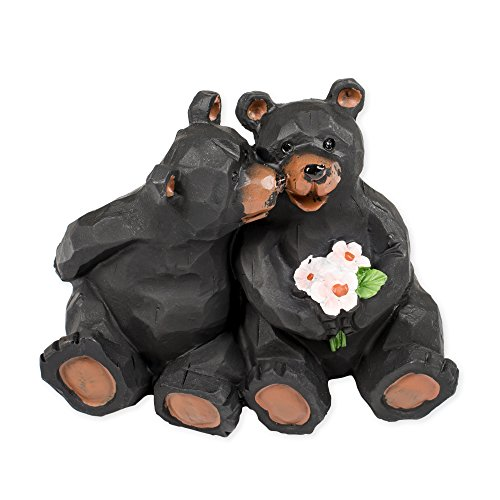 Kissing Bear Couple Figurine