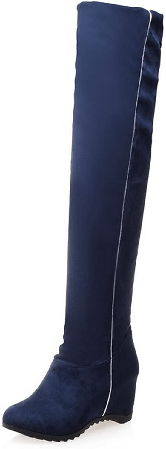 Ladola Girls Heighten Inside Flexible Thigh Highs Frosted Boots