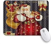 マウスパッド 個性的 おしゃれ 柔軟 かわいい ゴム製裏面 ゲーミングマウスパッド PC ノートパソコン オフィス用 デスクマット 滑り止め 耐久性が良い おもしろいパターン (クリスマスサンタクロースギフトジングルベルポストカード)