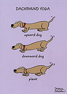 Dachshund Yoga Recycled Paper Greetings Funny/Humorous Birthday Card