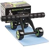 arteesol AB Roller Wheel, AB Roller Exercise 4 Ruedas Abdominal Muscle Wheel con Rodillera Mat Core Abdominal Trainers para el hogar y el Gimnasio Fitness Workout