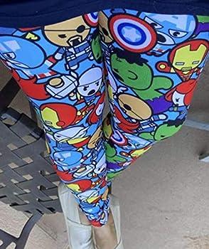 Superhero Avengers Cartoon Heroes Anime Character Unisex Womens Mens Kids Girls Boys Leggings - Ships Free