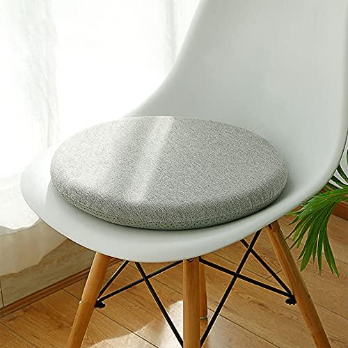 LucaSng Sitzkissen rund Stuhlkissen rund Sitzkissen rund 40cm Sitzkissen Outdoor,Sitzkissen 40x 40 verwendet Memory Foam Innenkern,rutschfestes Partikel-Design,Geeignet für drinnen und draußen.
