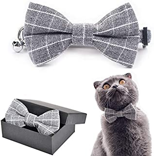 M-YOUNG Pet Soft &Comfy Bow tie Cat Collar and Dog Collar Pet Gift for Cats and Dogs 2 Size and 9 Patterns
