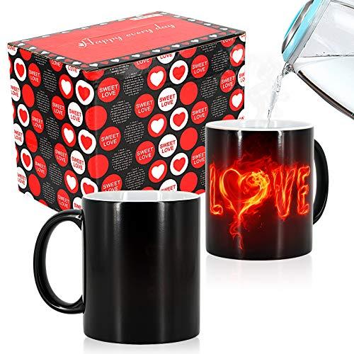 Taza Cafe - Amor Ardiente, Tazas Desayuno, Tazas Cafe con Leche, Taza Te, Tazas Originales, Regalos Originales para Mujer Hombre, Regalos para Parejas, Regalos de Aniversari, Regalo Cumpleaños Mujer