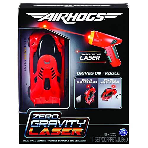 Air Hogs 6054126 Zero Gravity Laser Racer, Samochód Wyścigowy Zdalnie Sterowany, Czerwony, Jeden Rozmiar