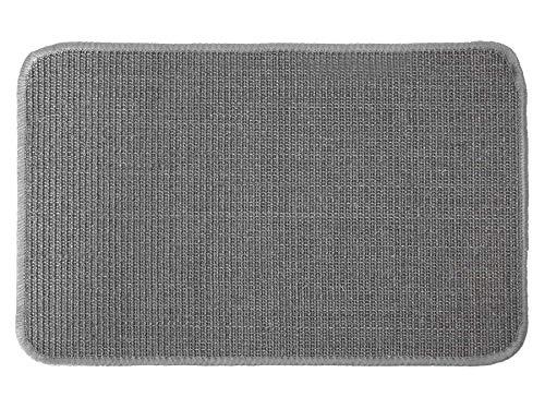 Primaflor - Ideen in Textil Katzen-Kratzmatte Katzenteppich - Grau 40 x 60 cm, Sisal, Langlebige Rutschhemmende Sisal-Matte, Geeignet für Fußbodenheizung, Krallenpflege Sisalteppich für Wand & Boden