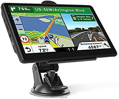 GPS Navigation for Car Truck Latest 2020 Map Touchscreen 7 Inch 8G 256M Navigation System with Voice Guidance and Speed Camera Warning Lifetime Free Map Update
