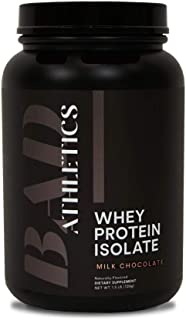 Bad Athletics Milk Chocolate Grass Fed 100% Whey Protein Powder for Women - Five Ingredients, 20g of Protein, Naturally Fl...