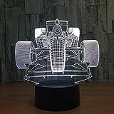 AI LI WEI Veilleuse, Course Automobile Nouveauté lumière Lampada LED Lampe Lampe de Table Ampoule colorée...