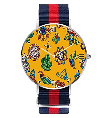 Reloj de pulsera con patrón de color, diseño personalizado, relojes para mujeres, hombres, unisex, de acero inoxidable, reloj de cuarzo analógico, de negocios, casual,