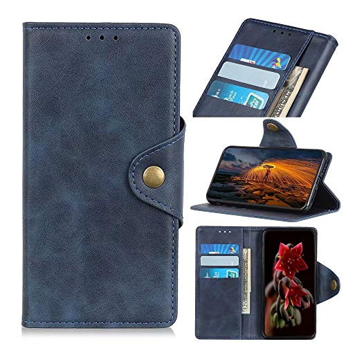 FTRONGRT Cover Compatible for Realme Narzo 30 Pro 5G Case, Flip Cover with [Card Slot] [Bracket] [Wallet], Magnetic PU Leather Wallet case for Realme Narzo 30 Pro 5G. (Blue)