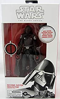 DisneyHasbro Star Wars The Black Series Rise of Skywalker 6-inch First Edition- Limited White Box Second Sister Inquisitor Figure Figure
