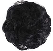 Phnirva Lady Wig, Easy to Wear Stylish Hair Scrunchies Naturally Messy Curly Bun Hair Extension-Lovely, Sweet Type