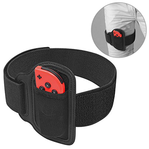 Leg Strap for Nintendo Switch Ring Fit Adventure, Joy-Cons Controller Game Accessories, Adjustable Elastic Strap for Nintendo Switch Controller Game