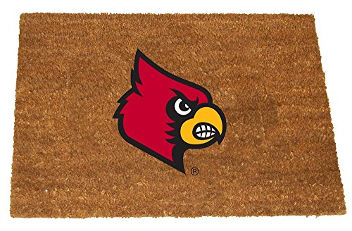 The Memory Company NCAA University of Louisville Colored Logo Door Mat, One Size, Multicolor