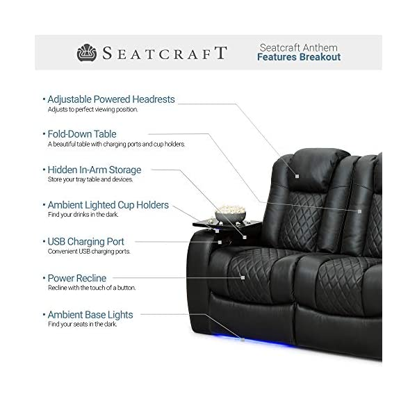Seatcraft Anthem Home Theater Seating Features