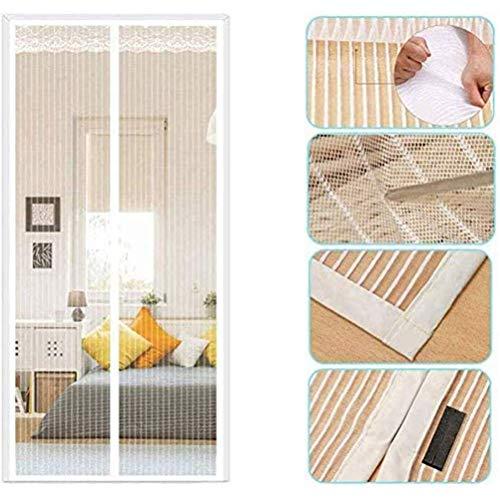 ALIPC Mosquitero magnético para puerta, mosquitero, antimosquitos, mosquitero, sin perforaciones, color blanco, tamaño: 134263R5Z4A (color: blanco, tamaño: 130 x 220 cm)