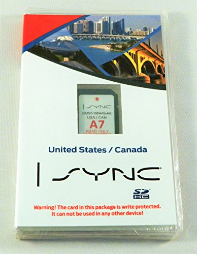 Ford Lincoln Sync U.s. and Canada Navigation System A7 Maps Sd Card for Escape, Flex, Focus, Fusion, Taurus, Edge, Explorer, F150, Mks, Mkt, and Mkx Gm5t-19h449-aa Us/can