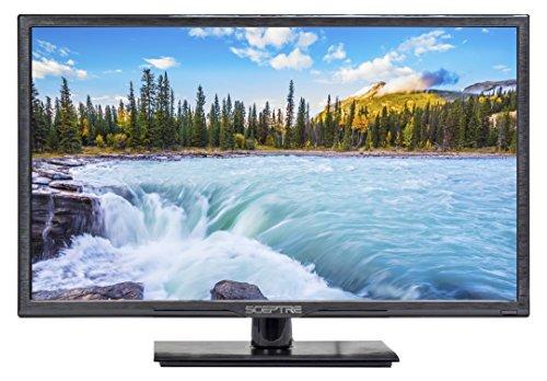 "Sceptre 24"" FHD 1080P LED TV HDMI VGA VESA Wall Mount Ready, Metal Black 2019 (E246BV-F)"