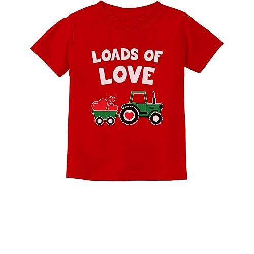 Loads of Love Valentine/'s Gift Tractor Loving Toddler//Kids Long sleeve T-Shirt