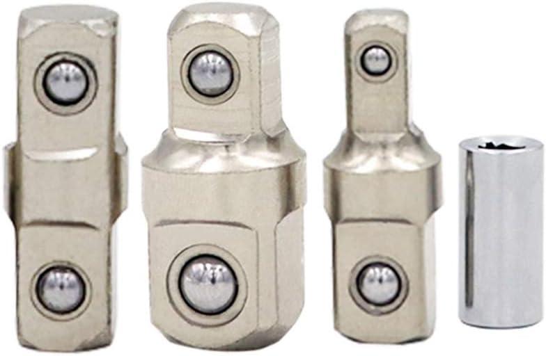 Incluye adaptador de accionamiento cuadrado de 3//8 a 1//2 Llave de extensi/ón universal para llave de carraca arco oscilante de 0 grados para sujetadores confinados adaptador de barra de extensi/ón