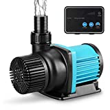 JEREPET 3170 GPH Aquarium 24V DC Water Pump with Controller, Submersible Return Pump for Fish Tank,Aquariums,Fountains,Sump,Hydroponic,Freshwater and Marine Water Use (3170GPH,86W,20.3FT)