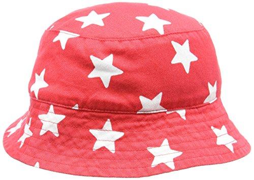 Toby Tiger and Star Reversible Hat Bob, Rouge (Red/White), 1 Mois Bébé garçon
